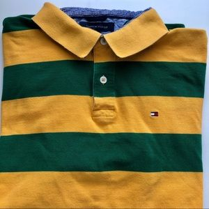 Tommy Hilfiger Men's Polo Orange and Green SZ XXL